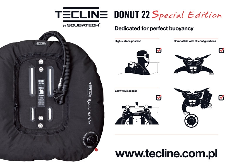 Donut 22 Special Edition red, with DIR harness & BP