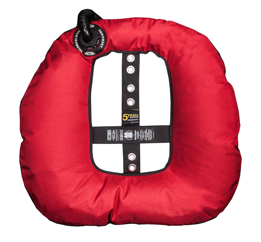 Donut 22 Special Edition Rebreather II, red (22kg/50lbs) - customize IFLP hose length